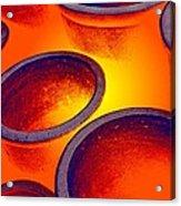 Illuminated Round Bowls Acrylic Print