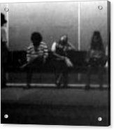 Images Of Waiting Acrylic Print by Deborah  Crew-Johnson