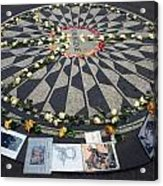 Imagine In Strawberry Fields Acrylic Print by Chris Ann Wiggins
