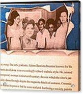 Imelda Marcos 1967 Acrylic Print by Glenn Bautista