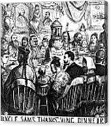 Immigration Cartoon, 1869 Acrylic Print