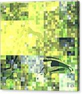 Impatience Geometric Yellow Acrylic Print