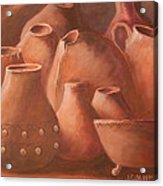 Imperfect Indian Pottery Acrylic Print by Janna Columbus