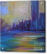 Impressionism-city And Sea Acrylic Print by Soho