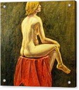Impressionist Nude Acrylic Print