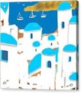 Impressions Of Greece Acrylic Print