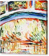 Impressions On Monet Painting Of Pond With Waterlilies  Acrylic Print