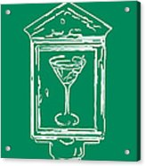 In Case Of Emergency - Drink Martini - Green Acrylic Print by Wingsdomain Art and Photography