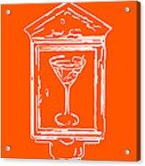 In Case Of Emergency - Drink Martini - Orange Acrylic Print