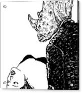 In Rhinos Arms Acrylic Print by Karl Addison