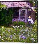 In The Iris Garden Acrylic Print