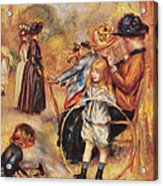 In The Luxembourg Gardens Acrylic Print by Pierre Auguste Renoir