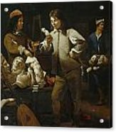 In The Studio Acrylic Print by Michael Sweerts
