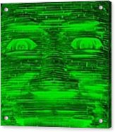 In Your Face In Negative Green Acrylic Print