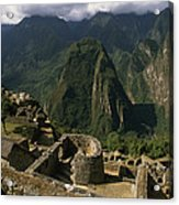 Inca Ruins At Machu Picchu Are Biggest Acrylic Print by Gordon Wiltsie