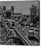 Incline Bw Acrylic Print by Arthur Herold Jr