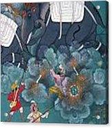 India: Elephant Fight Acrylic Print