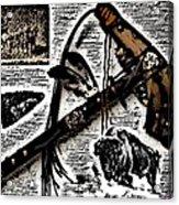 Indian Buffalo Jawbone Tomahawk Acrylic Print