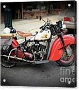 Indian Chief Motorcycle Rare Acrylic Print