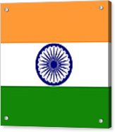 Indian Flag Acrylic Print