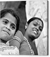 Indian Girls Acrylic Print