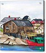 Indian Harbour Peggys Cove  Nova Scotia Acrylic Print