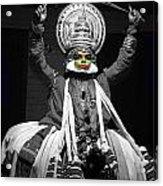 Indian Kathakali Dance Of Kerela 2 Acrylic Print by Sumit Mehndiratta