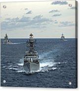 Indian Navy Corvette Ship Ins Kulish Acrylic Print