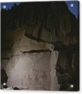 Indian Pictographs Are Illuminated Acrylic Print