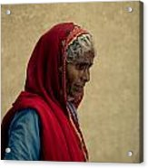 Indian Woman Acrylic Print