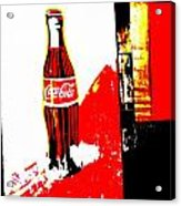 Indonesian Coke Ad Acrylic Print by Funkpix Photo Hunter