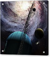 Indra, A Fast Spinning Gas Giant Acrylic Print