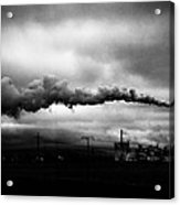 Industrial Eruption Acrylic Print by Ilker Goksen