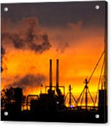 Industrial Strength Sunset Acrylic Print