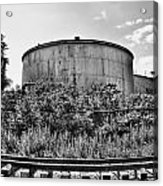 Industrial Tank In Black And White Acrylic Print