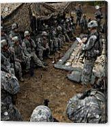 Infantrymen Receive Their Safety Brief Acrylic Print