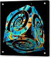 Infinity Time Cube On Black Acrylic Print