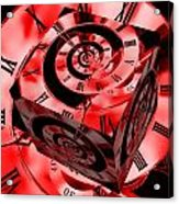 Infinity Time Cube Red Acrylic Print