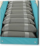 Inflated Hospital Air Mattress Acrylic Print by Mark Sykes