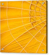 Inflating Folds Of Yellow Acrylic Print