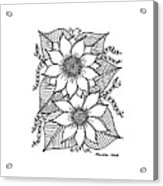 Ink Sunflower Acrylic Print