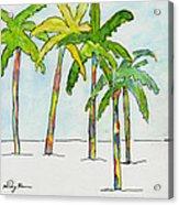 Inked Palms Acrylic Print