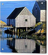 Inlet At Peggys Cove Nova Scotia Acrylic Print