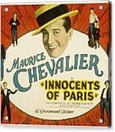 Innocents Of Paris, Maurice Chevalier Acrylic Print by Everett