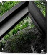 Inside And Outside A Frame Acrylic Print