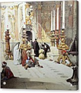 Inside Holy Specular Church In Jerusalem Acrylic Print