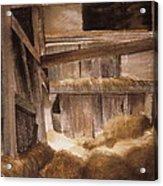Inside Keeler's Barn Acrylic Print