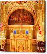 Inside St Louis Cathedral Jackson Square French Quarter New Orleans Accented Edges Digital Art Acrylic Print