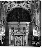 Inside St Louis Cathedral Jackson Square French Quarter New Orleans Black And White Acrylic Print