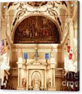 Inside St Louis Cathedral Jackson Square French Quarter New Orleans Diffuse Glow Digital Art Acrylic Print